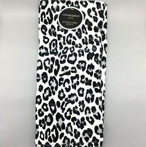 x2 Cynthia Rowley Snow Leopard Print Terry Fuzzy Kitchen Towel Set Gray Black