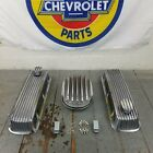Chevy Bbc 12 Deep Finned Ac Engine Dress Up Kit Valve Covers Breathers 454 496