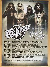 RECKLESS LOVE 2016 TOUR  - orig.Concert Poster - Konzert Plakat  NEU