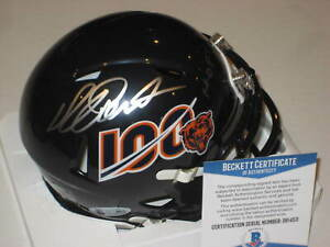 RICHARD DENT Signed Chicago BEARS 100th Anniversary Mini-helmet w/ Beckett COA