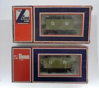 OO gauge Vintage Lima GW 12 Tons Ventilated Van #597G1 Boxed - set of 2