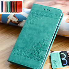 Retro Magnetic Flip Leather Wallet Card Stand Case Cover For Samsung S5 S7 S8