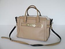 Coach Swagger Leather Satchel Shoulder Handbag 34408