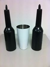 FLAIR BOTTLE set colore nero boston tin bianco Attrezzatura Barman Bartender