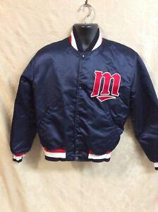 Vintage 80s Starter MLB Minnesota Twins Snap Satin Jacket Medium USA official