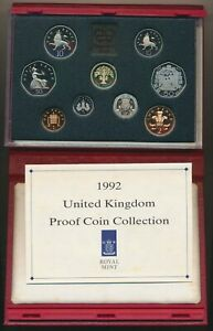 Great Britain: 1992 Deluxe Leather Proof Set, with Scarce EEC/ EU 50p