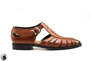 Men's Hand Stitched Summer Fisherman Sandals Fine Calf Leather Ready to Ship