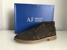 Armani Jeans Desert Lace Up Ankle Boots In Brown Suede 935056 / CC510 Size UK 9