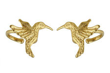 Hummingbird Ear Cuff Earring - 24k Gold Vermeil Sterling Silver - 2 pieces *NEW*