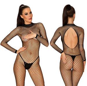 OBSESSIVE N121 Luxury Super Soft Long Sleeved Fishnet Bodystocking