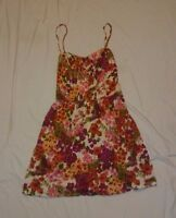 I Love H81 Women's Floral Print Spaghetti Strap Dress Size Medium M