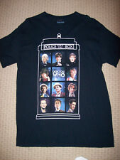 Doctor Who 11 Doctors Adult T Shirt: Size Medium TV Show Dr. Who 50 Years, New