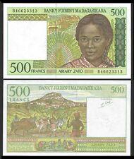 Madagascar 500 FRANCS Serie B ND 1994 P 75b UNC