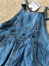 Next Baby Girl Bunny Dungarees 3-6 Months