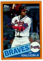 RONALD ACUNA Jr. 2020 Topps Chrome 1985 35th ORANGE Refractor Ref 17/25 Braves