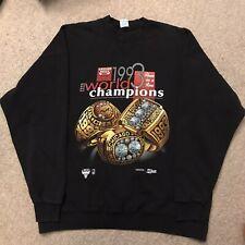 Chicago Bulls 1993 Champions Pullover Crewneck Sweatshirt Vintage Salem 3 Rings