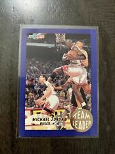 1992-93 Fleer Team Leader MICHAEL JORDAN  Basketball Rare Insert Card Bulls RARE
