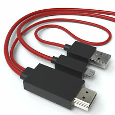 MHL en adaptador HDMI 11-pin micro USB cable TV móvil tablet samsung galaxy 1,8m