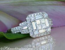Reinheit VS Echte Diamanten-Ringe aus Weißgold mit Brilliantschliff für Damen
