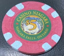 Casino Niagara $5 Baccarat Oversize 43mm Paulson IHC Casino Chip -Ontario Canada