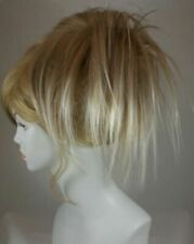 Short Fun Spiky Ponytail Hair Topper Hairpiece w/drawstring Cheerleaders Dancers