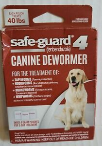 Safe-Guard 4 Canine Dewormer 8 in 1 - Each Pouch Treats 40 Pounds