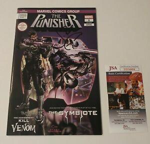 THE PUNISHER #1 Clayton Crain Cover C Venom AUTOGRAPHED by Jon Bernthal JSA