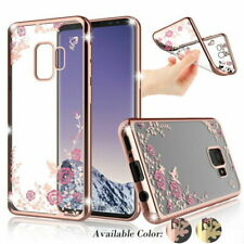 for iPhone 11 Pro Max XR XS Samsung Slim Crystal Flower Clear TPU Case Cover US