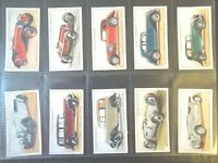1936  MOTOR CARS vintage vehicle autos series 1 set 50 cards Tobacco Cigarette
