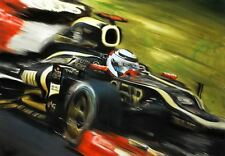 Kimi Raikkonen Lotus E20 F1 Race Car Formula 1 Gift Idea CANVAS Art Print Poster