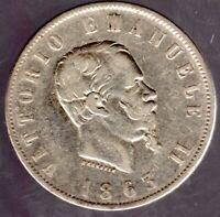 "Italia (Italien) 2 Lira 1863 BN ""Vittorio Emanuele II."" in gutem sehr schön"