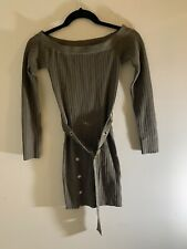 GBG CLAUDINE BELTED OFF-THE-SHOULDER SWEATER DRESS X-Small