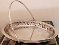 Antique Pierced EPNS 1748 Plated Handled Basket Tray Footed Bowl Dish VGC