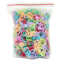 500Pcs Knitting Plastic Crochet Craft Locking Stitch Needle Clip Markers Hook