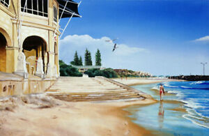 Signed Limited Edition Art Print - High Tide, Cottesloe Beach by Ben Sherar