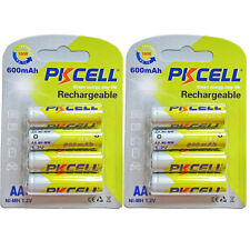 8 AA Rechargeable Batteries 1.2V Ni-MH 600mAh Battery for Solar Light PKCELL
