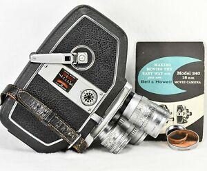 Bell & Howell RARE 240-TA 16mm Film Movie Camera - 3 LENS TURRET - Working