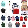 Waterproof Diaper Bag USB Charging Large Capacity Mummy Nursing Backpack Satchel