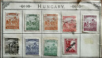 Hungary Magyar Posta Filler Harvesting Motif Stamps x 9 1920's