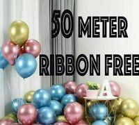 "10 / 20 CHROME BALLOONS METALLIC LATEX PEARL 12"" Helium Baloon Birthday Party 50"