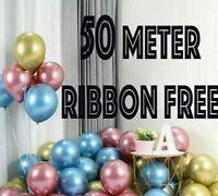 "10 / 20 CHROME BALLOONS METALLIC LATEX PEARL 12"" Helium Baloon Birthday Party 50"