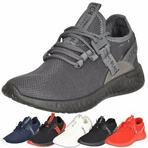 Crosshatch Trainers Lace Up Sports Sneaker Running Walking Gym Shoes UK Sizes