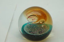 ART GLASS PAPERWEIGHT SIGNED CAITHNESS COLIN TERRIS SMOKE SIGNAL LIMITED EDITION