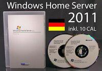 Microsoft Windows Home Server 2011 + 10 CAL Vollversion 64-Bit OVP