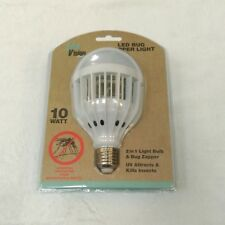 2 in 1 10W Backyard LED Bug Zapper Light Bulb Outdoor Home UV Insect Attractant