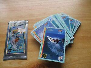 FUTERA SPORTS TRADING CARDS: HOT SURF, 1993.