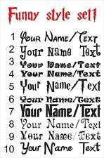 Personaliza tu nombre texto divertido estilo Autoadhesiva De Vinilo El Arte De Pared Arte Fs1