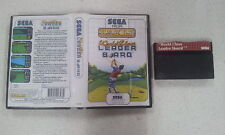 World Class Leader Board Golf Sega Master System SMS Boxed PAL