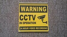 1X STICKER CCTV 24 HOUR VIDEO REC PRINTED LABEL SHOP BUSINESS SHOP