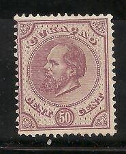 CURAÇAO-WILLIAM III -1873/89- 50 CENTS-VIOLET-Y&T nr.8